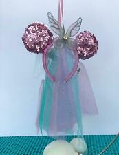 Disney 2019 Tinker Bell Bow Headband Christmas Ornament NEW