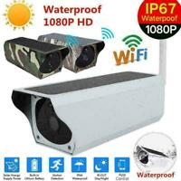 Wireless 1080P Solar Security IP Camera WIFI Surveillance Webcam IR Night View