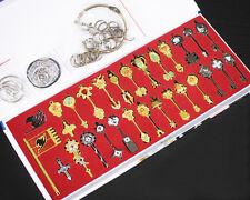29Pcs Fairy Tail Lucy Heart Celestial Spirit Gate Key Chain Necklace Pendant  Se