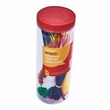 Amtech Assorted Cable Tie 500 Pieces Housed In Storage Tube Tidy Organiser