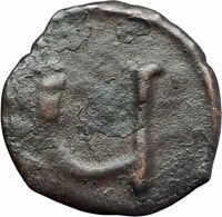 TIBERIUS II CONSTANTINE Rare Ancient Pentanummium Byzantine Coin LARGE U i79280