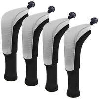 4 x Hybrid Golf Wood Head Covers Set Interchangeable No.Tag Taylormade Callaway