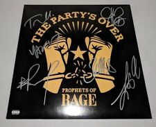 "PROPHETS OF RAGE signed autographed ""PARTYS OVER"" LP RECORD BECKETT LOA RATM"