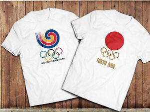 Vintage Olympics TShirt, Tokyo 1964, Seoul 1988. Retro Sports T-Shirt
