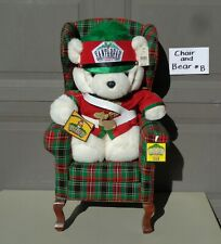 1997 DAYTON HUDSON SANTA BEAR NUTCRACKER & CHAIR WITH TAGS -  CLEAN NO ODORS #B