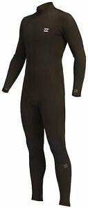 Billabong Men's Absolute 3/2mm Back Zip Full Wetsuit - Black Hash - New