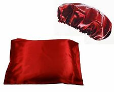 4pc Set 2pc Queen/Standard Satin Pillow Case with 2pc Matching Bonnet!