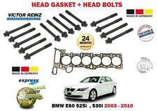 FOR BMW E60 525 530 M54B25 M54B30 2003-2010 CYLINDER HEAD GASKET + HEAD BOLT SET