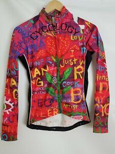 CYCOLOGY Cycling Shirt Jersey Long Sleeve Women's Size SMALL _3 pockets