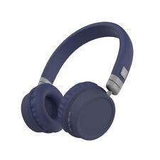 KitSound Harlem Wireless Bluetooth On-Ear Headphones w/Microphone - Blue