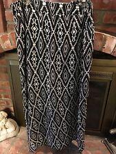 Maurices Womens Size XXL Black & White Maxi Skirt Shirt Black One Long Shear One