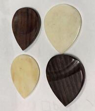 4 Pack Camel Bone & Exotic Rosewood Guitar Picks Acoustic Stringed Instruments