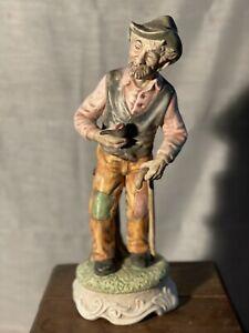 statuetta capodimonte Anziano Clochard