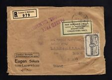 OFFICIALLY SEALED 1929 Cover from Switzerland