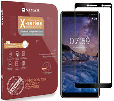 Nokia 7 Plus Tempered Glass Screen Protector Full Glue Adhesive Case Friendly