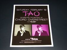 Chord Overstreet of GLEE 2011 B-Day Party @ Las Vegas 15x12 Matted Event Poster