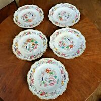5 Antique pre 1842 minton Chinese tree 1959 pattern plates
