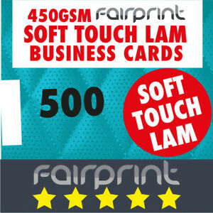 500 x Business Cards 450gsm SOFT TOUCH Lamination