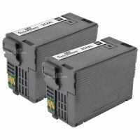 2PK 252XL Black Ink HY Cartridge for Epson WorkForce WF-7110 WF-7210 WF-7720DTWF