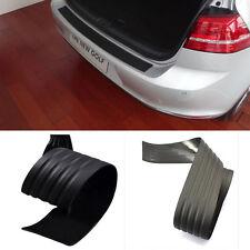 Black Rear Bumper Sill/Protector Plate Rubber cover Guard trim for Honda Toyota
