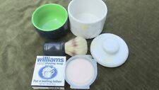 Vintage Shaving Brush Two Bars of Williams Mug Soap Two Soap Holders Unused