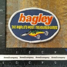 Vintage BAGLEY The World's Most Treasured LURES Fishing Patch