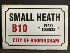 SMALL HEATH B10 CITY OF BIRMINGHAM PEAKY BLINDERS Vintage Metal Sign 30x20cm