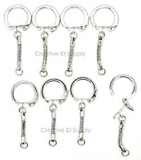 Lot of 500 Key Chains ~ Snake Chain w/ Snap End + Jump Ring ~ Craft Findings