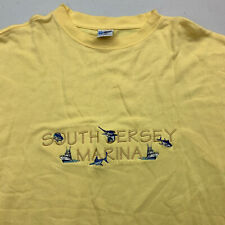 Vintage South Jersey Marina Embroidered Shirt Mens 3XL Short Sleeve Casual