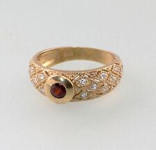 8625068 333er GG Ring Gold Granat Diamant Gr.55