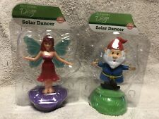 Solar Powered Dancing Toy New - Set Of 2 Summer - Gnome & Fairy