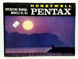 Honeywell PENTAX H1/H3 ORIGINAL Owner's Operating Manual Instructions guidebook