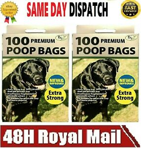 DOGGY POO BAGS EXTRA STRONG Scented LEMON Dog Puppy Waste Easy Tie Scooper Poop