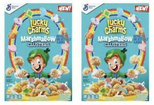 2 General Mills Lucky Charms Marshmallow Clusters Cereal 11.2 oz Boxes