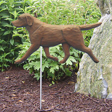 Chocolate Labrador Retriever Outdoor Garden Dog Sign Hand Painted Figure