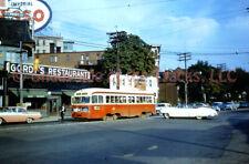 Toronto Transit Commission TTC PCC Tram #4078 Orig Slide Streetcar Roncesvalles