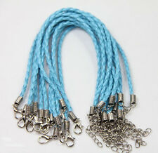 Wholesale New 10/100pcs Man-made Leather Cord Braid Rope Bracelet Jewelry Making