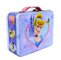 Disney Princess Tin Lunch Box Cinderella Snow White Aurora Belle Storage GiftBag
