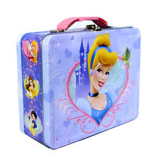 Disney Princess Cinderella Kids Lunch Box Carry All Gift Bag Case Toys Jewelry