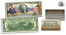 $2 BANK NOTE *BARACK OBAMA**COLORIZED 2 DOLLAR GENUINE GIFT LEGAL TENDER USA $