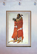 Indian Warrior 15x22 Bodmer Native American Indian Art Print
