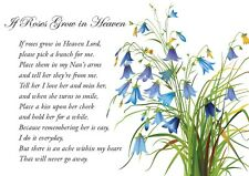 A5 Memorial Bereavement Grave Card for Nan on Mother's Day & Fast Freepost