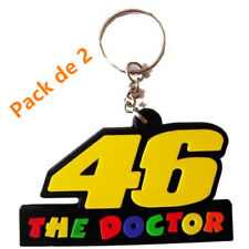 [Lot de 2] Porte Clé en Silicone Moto Motard '46 The Doctor' Valentino Rossi