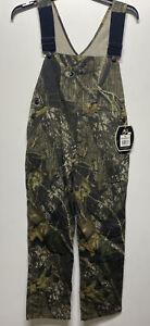 NWT Mossy Oak Camo Youth Boy's Bib Overalls size XL 18 regular Adjustable Huntin