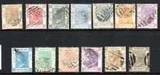 HONG KONG SC# 8/24, 13 USED QV DEFINITIVES WITH CROWN OVER CC WMK