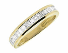 10k Yellow Gold Ladies Channel Baguettes Diamonds Engagement Wedding Band .49ct