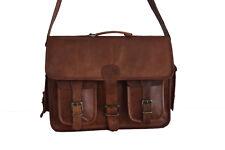 """Vintage Leather DSLR Camera Bag Briefcase Messenger Satchel Shoulder Handbag 15"""""""