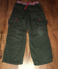 Hanna Andersson Boys Lined Cotton Cargo Pants Green Size 140