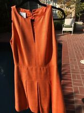 Akris peach/orange sheath dress, 100% silk
