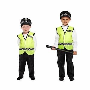 Boys Police Fancy Dress Costume World Book Day Dressing Up Outfit Age 3 - 9 NEW